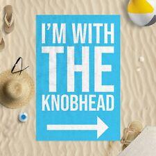 I'M con la Knobhead Azul Microfibra Toalla Playa Chiste Divertido Regalo Playa