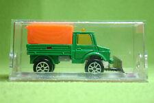 Voiture miniature-Majorette 224 unimog-fourgon avec neige-OVP