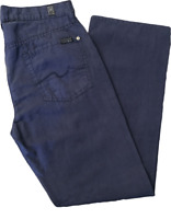 7 For All Mankind Mens Casual Pants Cotton/Linen Size 30 Blue