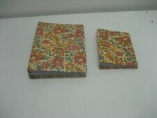Pair of Photo Albums Floral Design Holds 4x6 Photos
