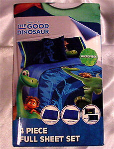 Disney Good Dinosaur 4 Piece Microfiber Full Sheet Set RN# 18389