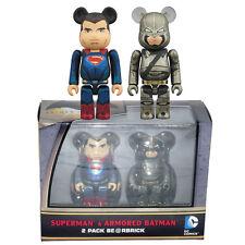 Medicom DC Comics Superman & Armored Batman Bearbrick Be@rbrick 100% Set of 2pcs