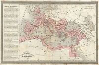 1835 Dufour Antique Map of The Roman Empire - Britain to Egypt & Middle East