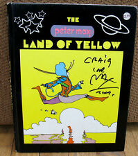 SIGNED Peter Max The Land of Yellow Psychedelic Picture Book Original 1970 HC