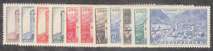 Andorra-French - 1944-46 - SC 85-95 - LH/H
