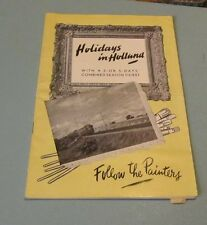 1953 Holidays in Holland Netherlands Travel Guide Brochure Follow the Painters