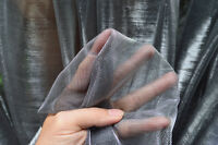 M19 Silver Black Iridescent 2 Tones Stretch Mesh Net Fabric Material