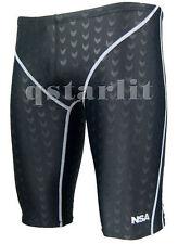 BNWT Boys Racing Competition Tech Swimwear Fast Skin Jammer Size 22  XXS Black
