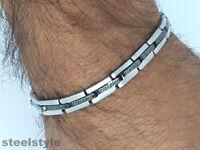 STAINLESS STEEL BRACELET ROMAN STYLE MEN'S JEWELLERY BRACELET RS11