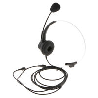 3.5mm Call Center Noise Cancelling Headsets Headphone for Office Telephone