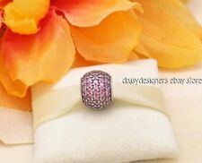 NEW Authentic Pandora FANCY PINK PAVE LIGHTS Charm 791051CZS RETIRED