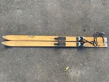 Vintage Skifree Wood And Aluminum Snow Skis