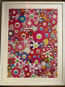 Takashi Murakami 'An Homage to Monopink, 1960  Framed. Signed. Limited Edition.