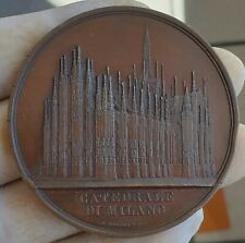 RARE ARCHITECTURE MEDAL BY WIENER -CATHEDRAL MILANO 1860