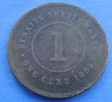 Straits Settlements 1 cent one cent 1883 KM# 9