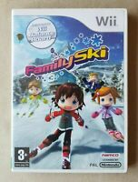 Nintendo Wii game - Family Ski + instructions