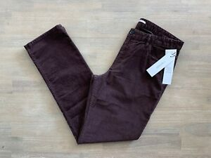 CALVIN KLEIN SLIM FIT CORDUROY PANTS CHOCOLATE PLUM - SIZE 32 33 34 36