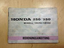 Honda CB 250,350 Manual de Instrucciones / Guía Del Conductor (1973)