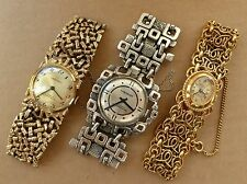 3 ladies Corocraft watches, inc. celtic style, all running, for spares or repair