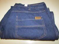 394 Denim Jeans Cintas Size 38-32 Cotton Washable Dark Blue VGC 394-83 5 Pocket