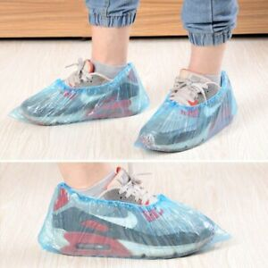 Disposable Plastic Shoe Covers Carpet Cleaning Overshoes Protective 10/100 PCS