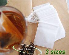 Paper Tea Bag filter loose bag drawstring empty teabag herbs natural colour