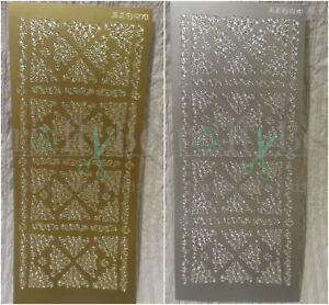 JEJE peel off outline stickers - Ornament ornate corners 187800 187801 FREE P&P