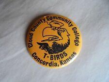 Vintage 1975 Cloud County Community College Concordia Kansas T-Birds Pinback