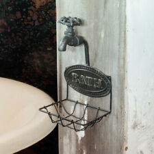 Vtg-Inspired Country Farmhouse Rustic Metal Wire Water Spigot Faucet Soap Dish