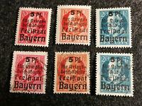 Altdeutschland Bayern 1919 - MiNr.171-173 König Ludwig III. Kriegsbeschädigte