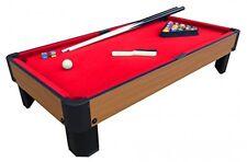 40-Inch Kids Pool Table, Mini Billiard Accessories Top Playset Game Red Kids New