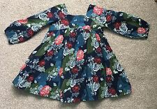 Baby Gap Girls Cotton Floral Smock Dress 1-2 Years Lined