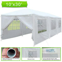Quictent Upgraded Pipes 10' x 30' Heavy Duty Canopy Gazebo Wedding Party Tent
