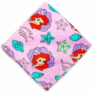 Disney Store Ariel The Little Mermaid Pink Fleece Throw 60'' x 50''