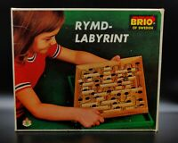 Brio Of Sweeden Vintage 1960s/1970s Wooden Labyrinth Marble Game/Board Game