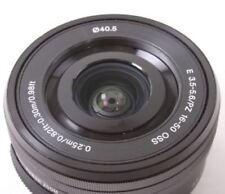 Sony SELP1650 16-50mm Power Zoom camerna Lens Black Displayed