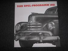 Prospekt Sales Brochure Opel Programm 1951 Technische Daten Lieferwagen Kapitän