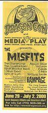 THE MISFITS Concert HB etal / DRAGON CON Atlanta June / July 2000 !!