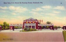 MAIN GATE, U.S. NAVAL AIR TRAINING CENTER, PENSACOLA, FL 1948 US Navy photograph