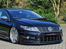 CUP Spoilerlippe für VW Passat CC R Line AB Bj. 2012 Front Spoiler Schwert IN