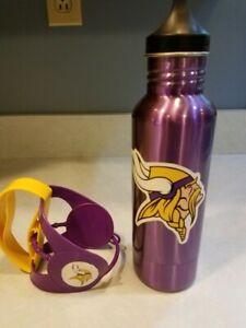 Minnesota Vikings NFL Stainless Steel Purple Bottle & Preowned Soda Can Holder