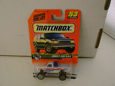 1996 MATCHBOX SUPERFAST #65 BLUE/SILVER 4X4 FORD F-150 PICKUP NEW ON CARD