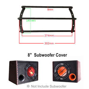 Car Metal Black 8 Inch Audio Speaker Protector Subwoofer Grill Cover Guard Trims