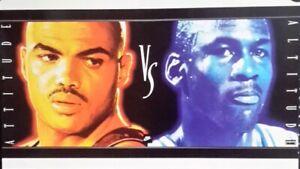 Original Vintage Nike Poster, Barkley vs Jordan, 1993. FREE INT.SHIPPING