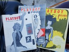 1First Edition/Issue Playboy Magazine December (1953), January/Febuary (1954)