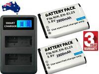 NEW EN-EL23 ENEL23 Battery / Charger for Nikon Coolpix B700 P900 S810c P610 P600