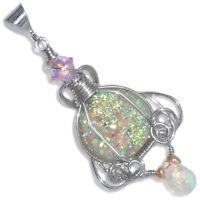 Fairy Aura Drusy Handmade Pendant