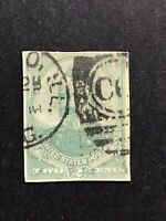 GandG US Stamps BOB #U293 Grant 2c Cut Square Used Supplementary