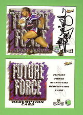 2001  RUGBY LEAGUE FUTURE FORCE SIGNATURE CARD FF1 HENRY FAAFILI, NZ WARRIORS