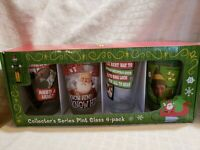 ELF the Movie Collector's Series Pint Glasses 4 Pack New in Box